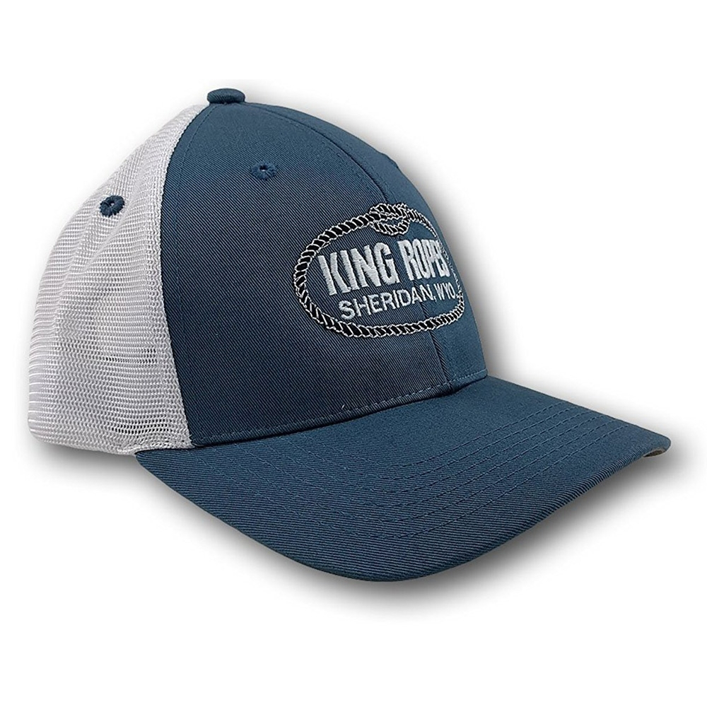 61c253f6 Kings Saddlery King Ropes Cyan Blue Imperial Hat with White Mesh - Tactical  Intent