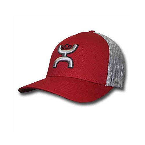 "official photos 8482e 2763b Hooey ""Coach"" Red Grey Flex Fit Mesh Back Hat (Small Medium)"