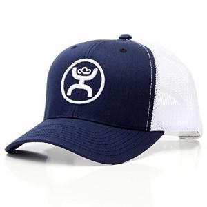 "Hooey Brand /""Coach/"" Grey//White Logo Flexfit Mesh Hat 1775GYWH"