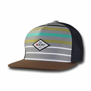 """new style 0d213 fda89 Hooey """"Method"""" Grey, White, Green, and Turquoise Striped Trucker"""