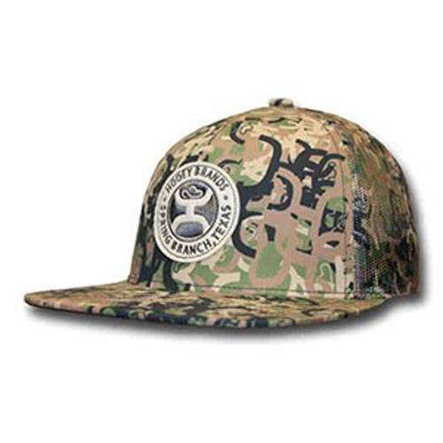 "ec01a0b32e9ca Hooey Brand ""Ziggy 2"" Camo With Circle Felt Patch Snapback Trucker Hat –  1797-CA"
