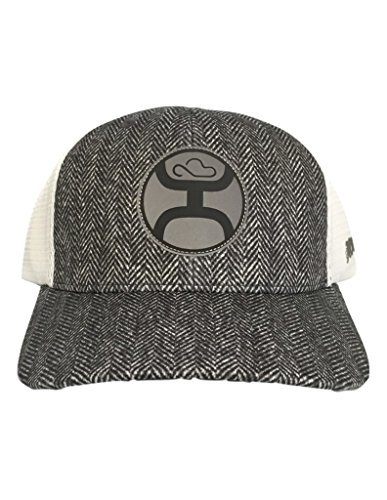"""e72ad765 Hooey """"Breeze"""" Grey/White Adjustable Velcro Mesh Back Hat — 1689T-GYWH"""