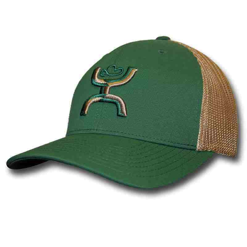 "meet 9bbdb 8ee5a Hooey ""Chi"" Green Khaki Adjustable Snapback Trucker Hat — 1643T-GNKH"