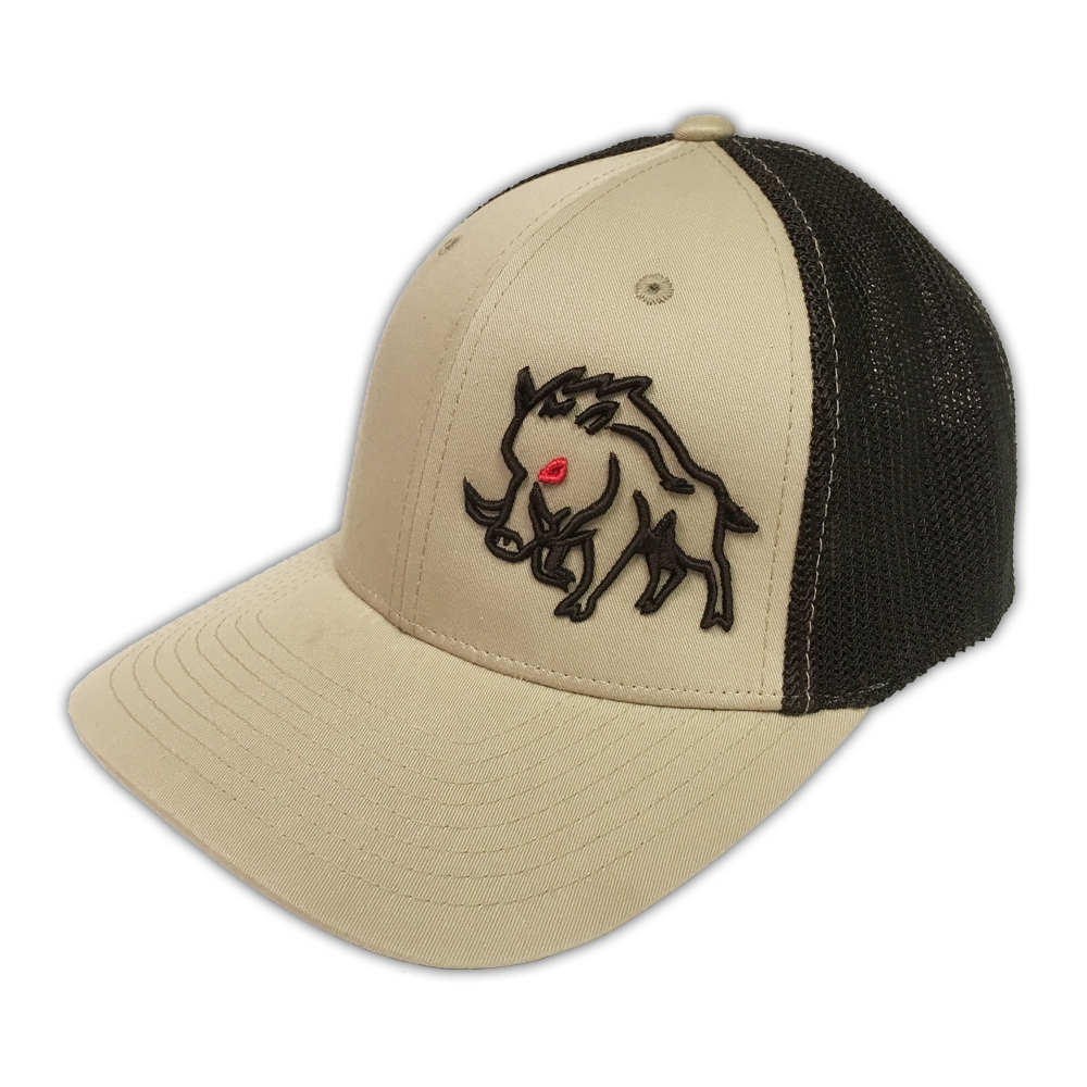 f3d03c665a8 Sniper Pig Brand Khaki Coffee Stud Pig Black Mesh Flexfit Hat - Tactical  Intent