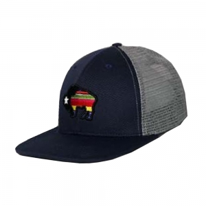 buy popular 4fc32 f08db ... where to buy hooey navy and grey w serape buffalo logo trucker hat 9400  nvgy e321d