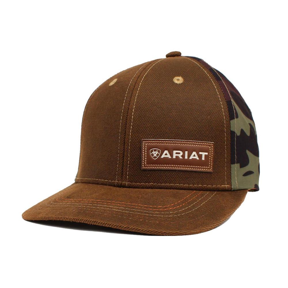 3fe51fd5d82c4 Ariats Men s Brown and Camo Back Adjustable Hat - Tactical Intent