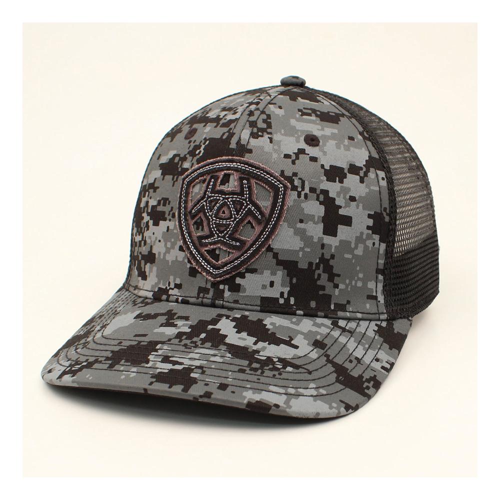 3d5c6762672be Ariat Men s Black and Gray Digital Camo Cap - Tactical Intent