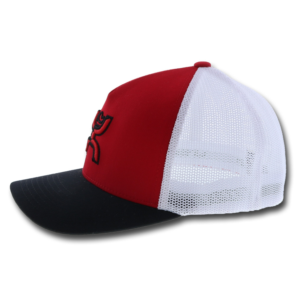 HOOey Coach Red/Black/White Flexfit Fitted Hat